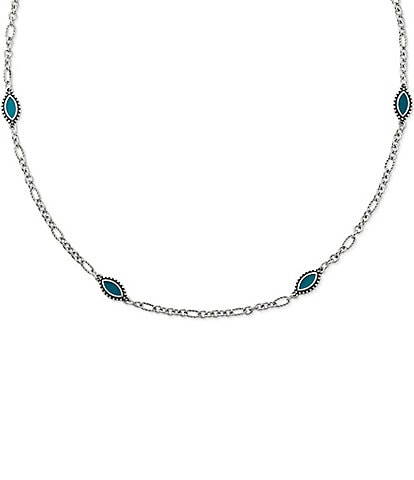James Avery Blue Enamel Cordoba Necklace