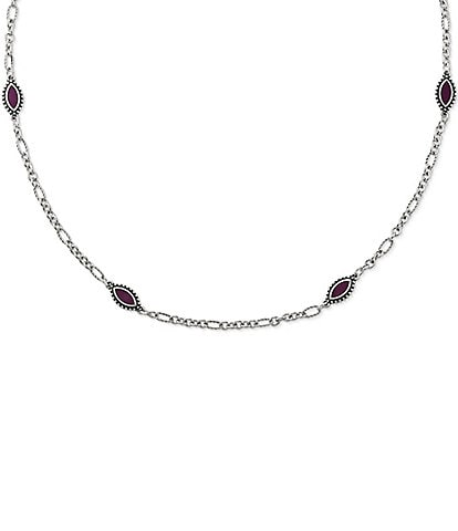 James Avery Purple Enamel Sterling Silver Cordoba Necklace