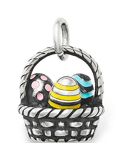 James Avery Enamel Easter Basket Charm