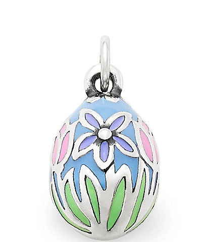 James Avery Enamel Floral Egg Charm