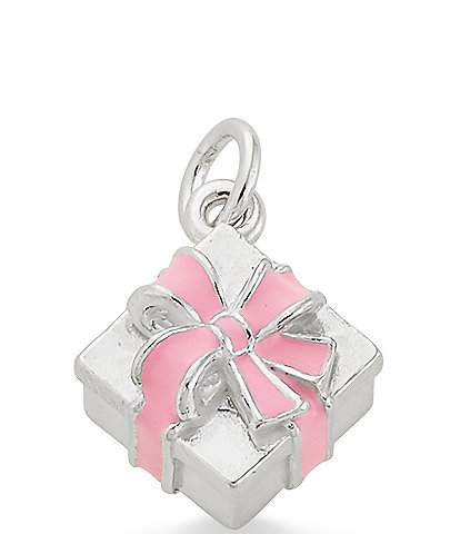 James Avery Enamel Pink Gift Box Charm