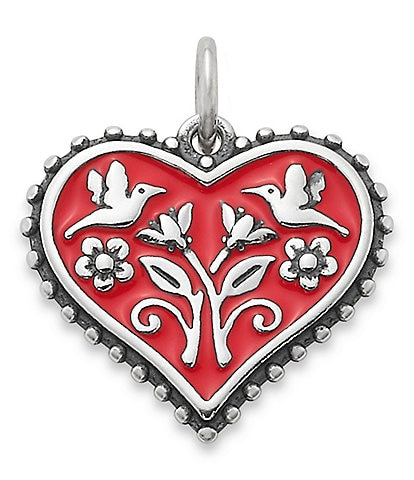 James Avery Enamel Red Hearts in Bloom Charm