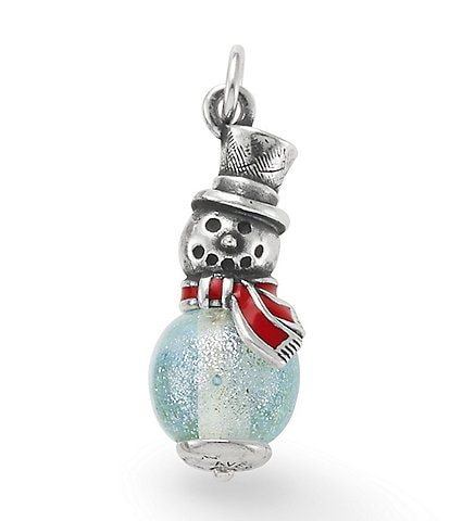James Avery Enamel Snowman Art Glass Charm