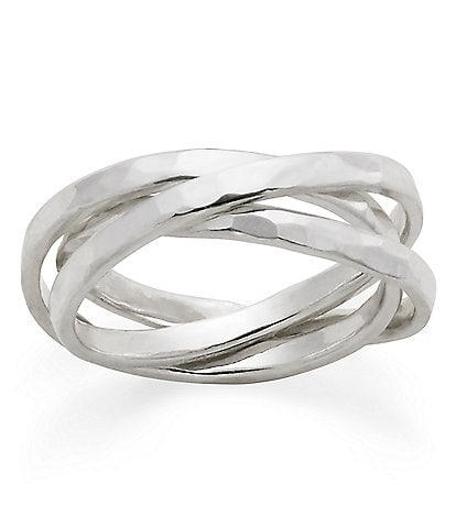 James Avery Entwined Trio Sterling Ring