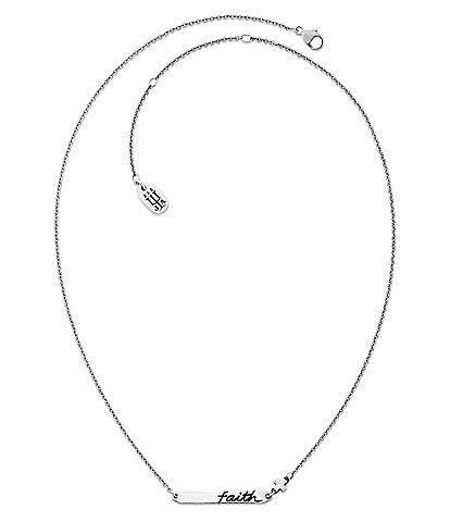 James Avery Faith Horizon Sterling Silver Necklace