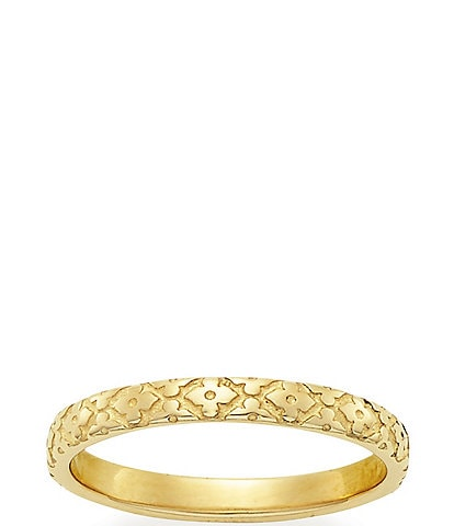 James Avery 14K Floral Garland Band Ring