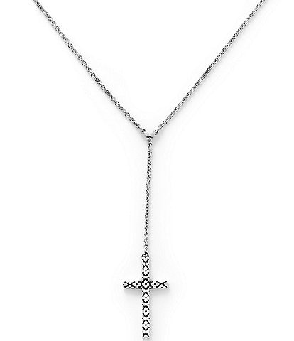 James Avery Floral Sterling Silver Latin Cross Necklace