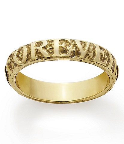 James Avery #double;Forever Always#double; 14K Gold Band Ring