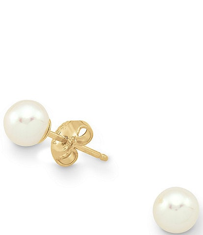 James Avery Freshwater Cultured Pearl 14K Gold Earrings