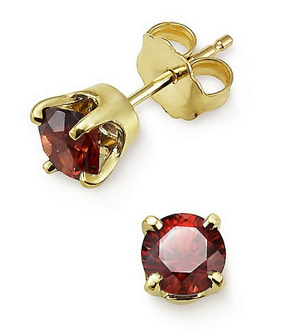 James Avery Garnet Gemstone January Birthstone Ear Posts