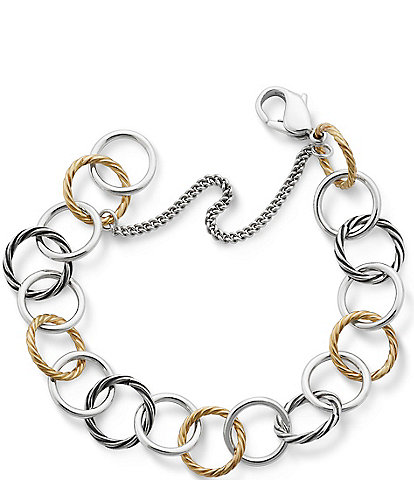 James Avery 14K Gold & Silver Loops Charm Bracelet