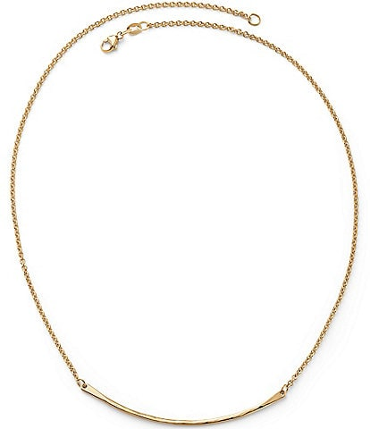 James Avery 14K Hammered Crescent Changeable Charm Holder Necklace