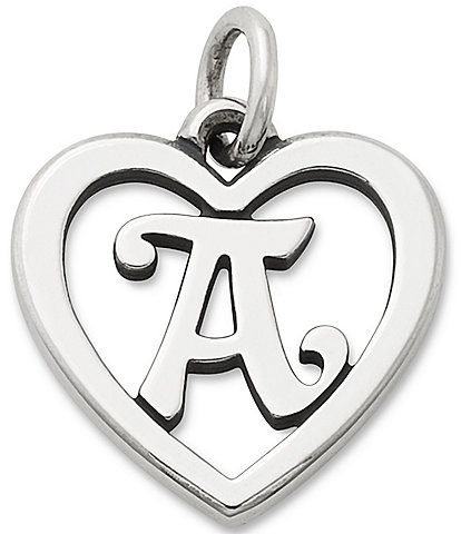 James Avery Heart Initial Charm