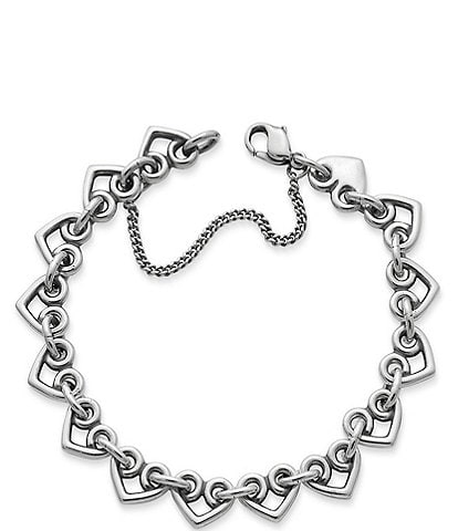 James Avery Heart Link Charm Bracelet