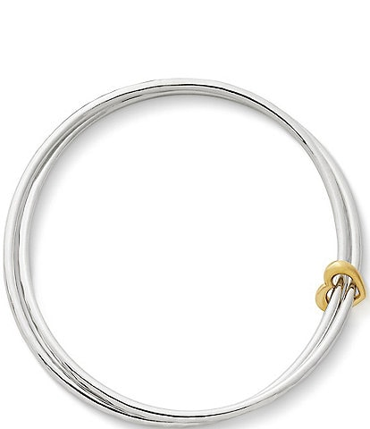 James Avery Heart of Gold 14K Combo Bangle Bracelet