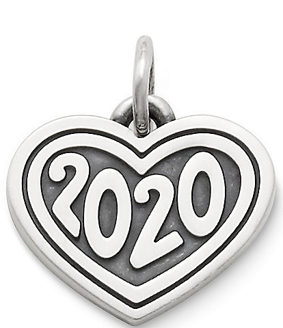 James Avery Heart with #double;2020#double; Graduation Charm
