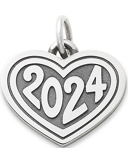 James Avery Heart with 2024 Charm