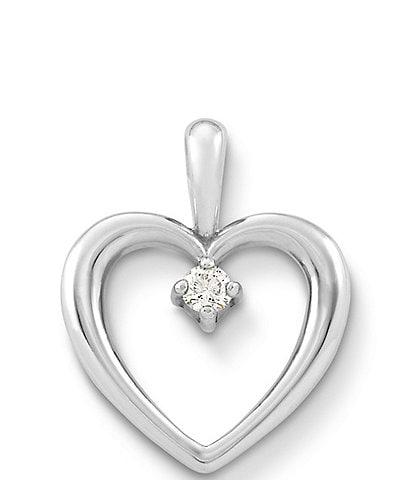 James Avery Heart with Diamond Pendant