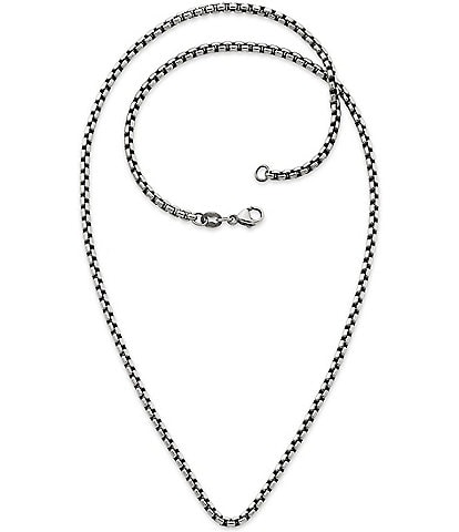 James Avery Sterling Silver Heavy Box Chain Necklace