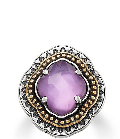 James Avery Heirloom Quatrefoil Purple Triplet Ring