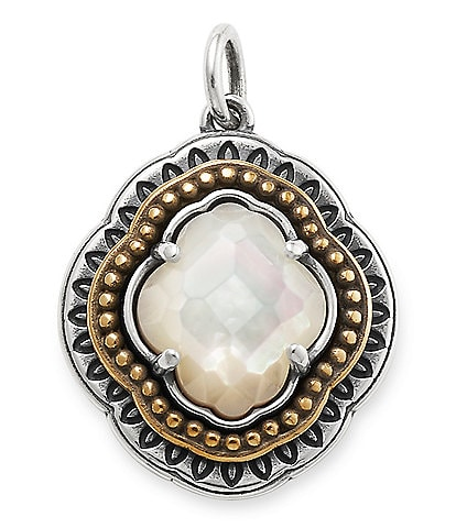 James Avery Heirloom Quatrefoil White Doublet Pendant