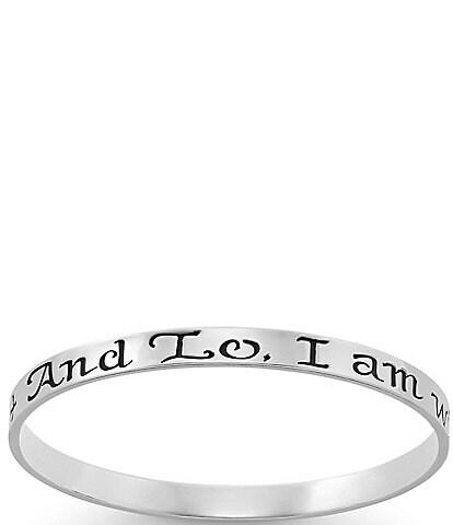 James Avery #double;I Am With You Always#double; Bangle Bracelet