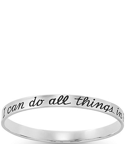 James Avery #double;I Can Do All Things#double; Bangle Bracelet