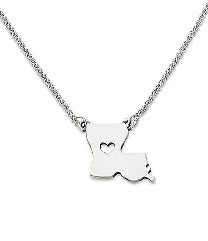 James Avery I Love Louisiana Necklace