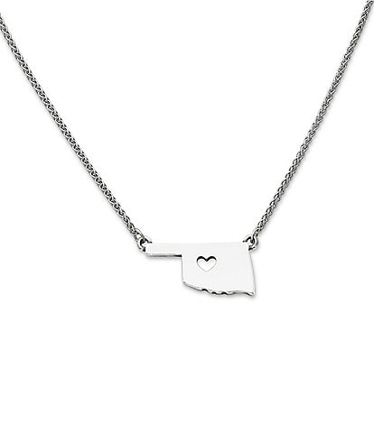 James Avery I Love Oklahoma Necklace