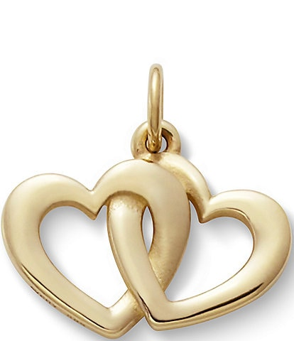 James Avery Jewelry 14K Gold Linked Hearts Charm