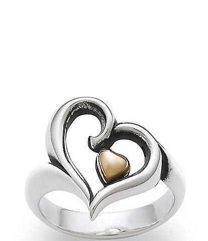 James Avery Joy of My Heart Sterling Silver and 14K Gold Ring