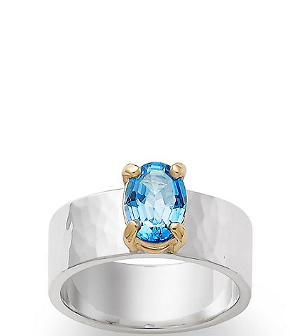 James Avery Julietta December Birthstone Ring with Blue Topaz
