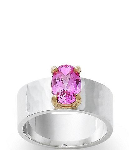 James Avery Julietta October Birthstone Ring with Lab-Created Pink Sapphire and 14K Gold