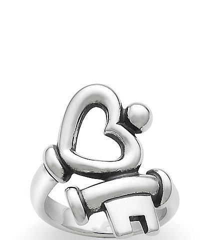 James Avery Key to My Heart Ring