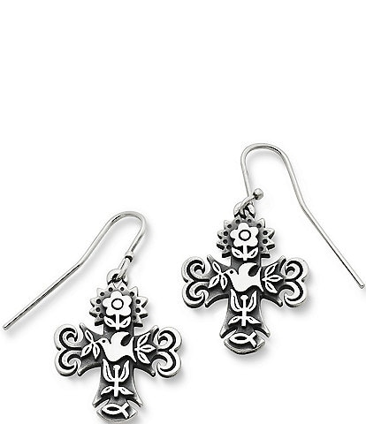 James Avery La Primavera Cross Drop Earrings
