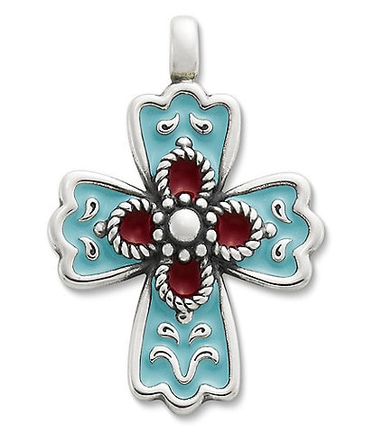 James Avery La Rosa Enamel Cross