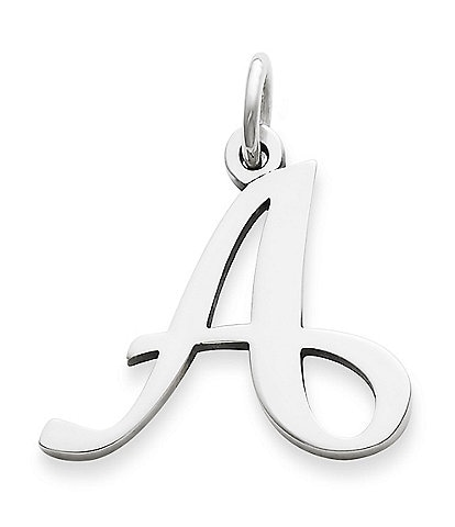 James Avery Large Script Initial Pendant