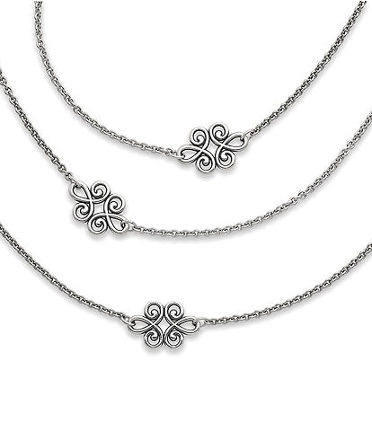 James Avery Linked Swirls Necklace
