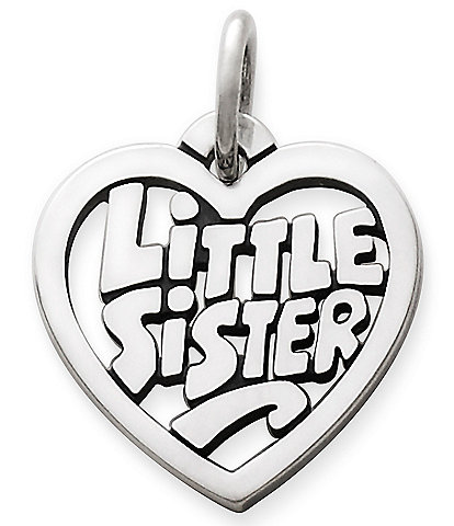 James Avery Little Sister Heart Charm