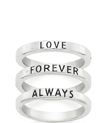 James Avery Love Forever Always Ring Set
