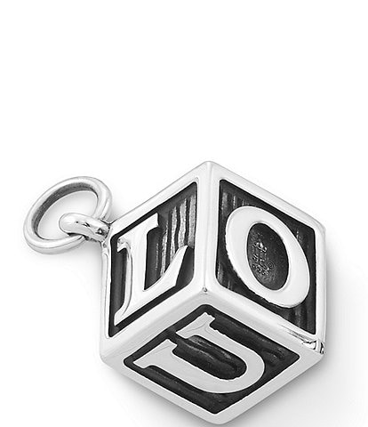James Avery #double;Love U#double; Wooden Block Charm