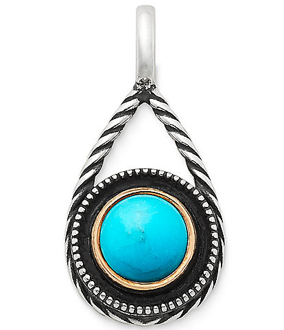 James Avery Marjan Turquoise Pendant