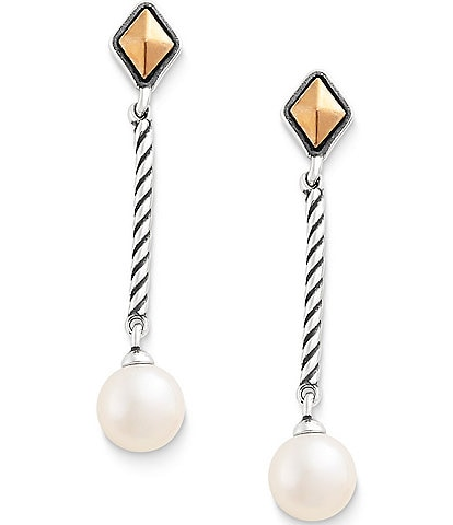 James Avery Marlowe Drop Ear Posts with Cultured Pearl