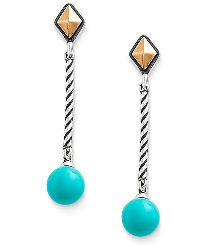 James Avery Marlowe Drop Ear Posts with Turquoise