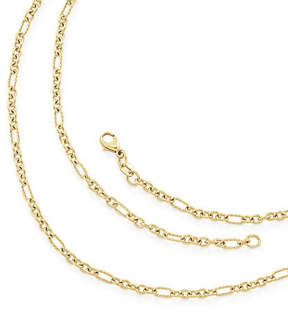James Avery 14K Medium Cable Figaro Chain