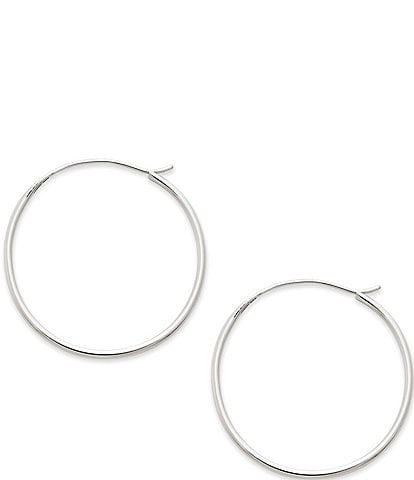 James Avery Medium Swedged Hoop Earrings