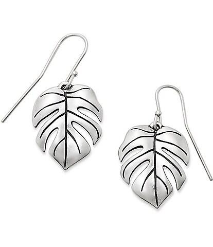 James Avery Monstera Leaf Ear Hooks