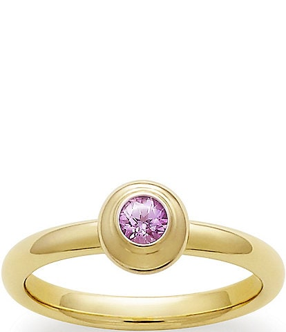 James Avery October Birthstone Remembrance Ring with Lab-Created Pink Sapphire