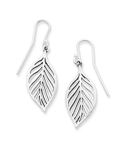 James Avery Open Leaf Sterling Silver Drop Earrings
