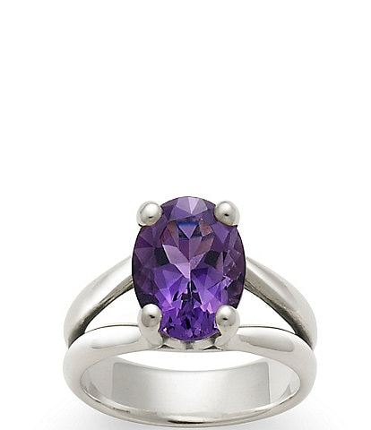 James Avery Oval Gemstone Ring with Amethyst
